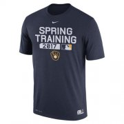Wholesale Cheap Men's Milwaukee Brewers Nike Navy Authentic Collection Legend Team Issue Performance T-Shirt