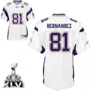 Wholesale Cheap Patriots #81 Randy Moss White Super Bowl XLVI Embroidered NFL Jersey