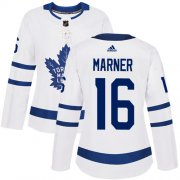 Wholesale Cheap Adidas Maple Leafs #16 Mitchell Marner White Road Authentic Women's Stitched NHL Jersey
