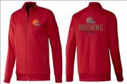 Wholesale Cheap NFL Cleveland Browns Victory Jacket Red