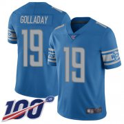 Wholesale Cheap Nike Lions #19 Kenny Golladay Blue Team Color Youth Stitched NFL 100th Season Vapor Limited Jersey