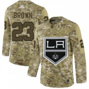 Wholesale Cheap Adidas Kings #23 Dustin Brown Camo Authentic Stitched NHL Jersey