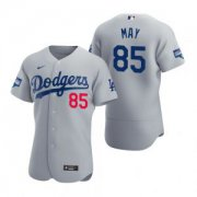 Wholesale Cheap Los Angeles Dodgers #85 Dustin May Gray 2020 World Series Champions Jersey