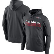 Wholesale Cheap Men's New England Patriots Nike Anthracite Sideline Circuit Pullover Performance Hoodie