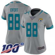 Wholesale Cheap Nike Jaguars #88 Tyler Eifert Silver Women's Stitched NFL Limited Inverted Legend 100th Season Jersey
