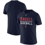 Wholesale Cheap Los Angeles Angels Nike Practice Performance T-Shirt Navy