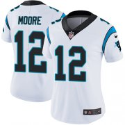 Wholesale Cheap Nike Panthers #12 DJ Moore White Women's Stitched NFL Vapor Untouchable Limited Jersey