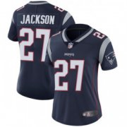 Wholesale Cheap Women's New England Patriots #27 J.C. Jackson Limited Team Color Vapor Untouchable Navy Jersey