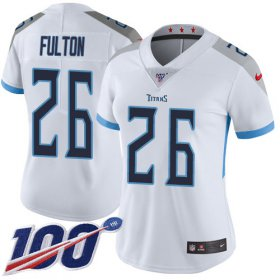 Wholesale Cheap Nike Titans #26 Kristian Fulton White Women\'s Stitched NFL 100th Season Vapor Untouchable Limited Jersey