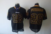 Wholesale Cheap Vikings #28 Adrian Peterson Lights Out Black Stitched NFL Jersey