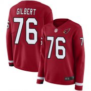 Wholesale Cheap Nike Cardinals #76 Marcus Gilbert Red Team Color Women's Stitched NFL Limited Therma Long Sleeve Jersey