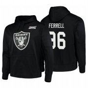 Wholesale Cheap Las Vegas Raiders #96 Clelin Ferrell Nike NFL 100 Primary Logo Circuit Name & Number Pullover Hoodie Black