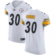 Wholesale Cheap Nike Steelers #30 James Conner White Men's Stitched NFL Vapor Untouchable Elite Jersey