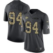 Wholesale Cheap Nike Chiefs #94 Terrell Suggs Black Youth Stitched NFL Limited 2016 Salute to Service Jersey