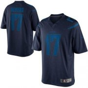 Wholesale Cheap Nike Chargers #17 Philip Rivers Navy Blue Men's Stitched NFL Drenched Limited Jersey