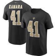 Wholesale Cheap New Orleans Saints #41 Alvin Kamara Nike Team Player Name & Number T-Shirt Black