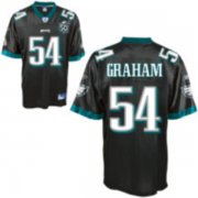Wholesale Cheap Eagles #54 Brandon Graham Black Stitched With Team 50TH Patch NFL Jersey