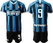 Wholesale Cheap Inter Milan #9 Icardi Home Soccer Club Jersey