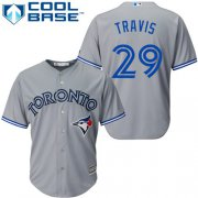 Wholesale Cheap Blue Jays #29 Devon Travis Grey Cool Base Stitched Youth MLB Jersey