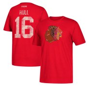 Wholesale Cheap Chicago Blackhawks #16 Bobby Hull CCM Retired Player Name & Number T-Shirt Red