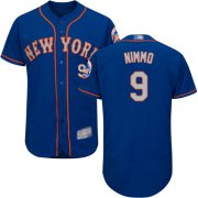 Wholesale Cheap Mets #9 Brandon Nimmo Blue(Grey NO.) Flexbase Authentic Collection Stitched MLB Jersey