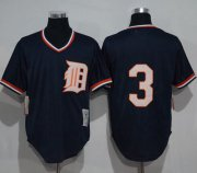 Wholesale Mitchell and Ness 1984 Tigers #3 Alan Trammell Blue Throwback Stitched Baseball Jersey