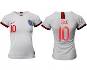Wholesale Cheap Women's England #10 Dele Home Soccer Country Jersey