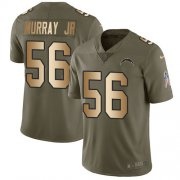 Wholesale Cheap Nike Chargers #56 Kenneth Murray Jr Olive/Gold Men's Stitched NFL Limited 2017 Salute To Service Jersey