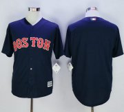 Wholesale Cheap Red Sox Blank Navy Blue New Cool Base Stitched MLB Jersey