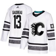 Wholesale Cheap Adidas Flames #13 Johnny Gaudreau White Authentic 2019 All-Star Stitched Youth NHL Jersey