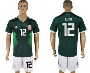 Wholesale Cheap Mexico #12 Cota Green Home Soccer Country Jersey