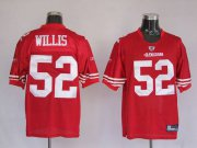 Wholesale Cheap 49ers #52 Patrick Willis Stitched Red NFL Jersey
