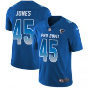 Wholesale Cheap Nike Falcons #45 Deion Jones Royal Men's Stitched NFL Limited NFC 2018 Pro Bowl Jersey