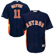 Wholesale Cheap Astros #11 Evan Gattis Navy Blue Cool Base Stitched Youth MLB Jersey