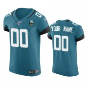 Wholesale Cheap Jacksonville Jaguars Custom Teal 25th Season Vapor Elite Stitched NFL Jersey
