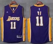Wholesale Cheap Lakers #11 Yi Jianlian Purple Stitched NBA Jersey