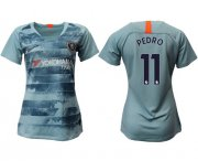 Wholesale Cheap Women's Chelsea #11 Pedro Third Soccer Club Jersey