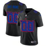 Wholesale Cheap New York Giants Custom Men's Nike Team Logo Dual Overlap Limited NFL Jersey Black