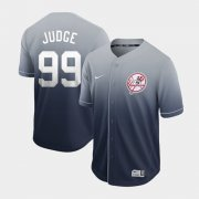 Wholesale Cheap Nike Yankees #99 Aaron Judge Navy Fade Authentic Stitched MLB Jersey