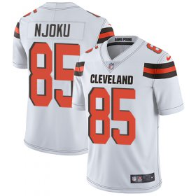 Wholesale Cheap Nike Browns #85 David Njoku White Youth Stitched NFL Vapor Untouchable Limited Jersey