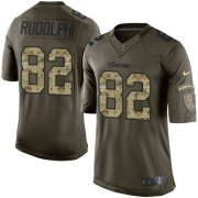 Wholesale Cheap Nike Vikings #82 Kyle Rudolph Green Youth Stitched NFL Limited 2015 Salute to Service Jersey