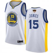 Wholesale Cheap Warriors #15 Damian Jones White 2019 Finals Bound Basketball Swingman Association Edition Jersey