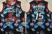 Wholesale Cheap Raptors 15 Vince Carter Black 1998-99 Hardwood Classics Floral Fashion Swingman Jersey