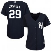 Wholesale Cheap Yankees #29 Gio Urshela Navy Blue Alternate Women's Stitched MLB Jersey