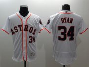 Wholesale Cheap Astros #34 Nolan Ryan White Flexbase Authentic Collection Stitched MLB Jersey