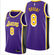 Wholesale Cheap Los Angeles Lakers #8 Kobe Bryant Purple Basketball Swingman Statement Edition Jersey