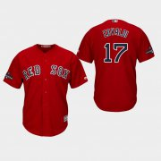 Wholesale Cheap Red Sox #17 Nathan Eovaldi Red New Cool Base 2018 World Series Champions Stitched MLB Jersey