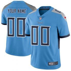 Wholesale Cheap Nike Tennessee Titans Customized Light Blue Team Color Stitched Vapor Untouchable Limited Men\'s NFL Jersey
