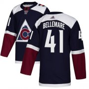 Wholesale Cheap Adidas Avalanche #41 Pierre-Edouard Bellemare Navy Alternate Authentic Stitched Youth NHL Jersey