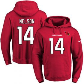 Wholesale Cheap Nike Cardinals #14 J.J. Nelson Red Name & Number Pullover NFL Hoodie